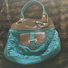 Fossil purse Teal with brown, like new barely used Fossil Bags Hobos