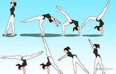 How to Learn to Do a Front Walkover in 1 Day. The front walkover is one of the most fundamental floor skills in gymnastics. It is a prerequisite for more advanced techniques, like the front handspring and front aerial. Cheer Stretches, Gymnastics Stretches, Gymnastics Tricks, Dance Stretches, Gymnastics Skills, Gymnastics Flexibility, Gymnastics Workout, Flexibility Workout, How To Do Gymnastics