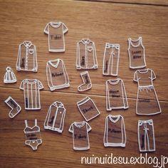 今回はプラバンで洋服タンスのタグを作ってみました。我が家は旦那と二人暮らしですが、洋服を沢山持っていてしかも整頓下手です。そんな整頓下手を払拭すべく、タグ...