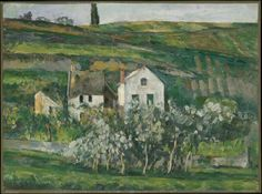 Paul Cézanne (French, 1839-1906), Small Houses near Pontoise, c. 1873-74. Oil on canvas, 40.7 x 50.9 cm.