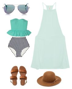 """Beach day"" by brookiea on Polyvore featuring RVCA, Aéropostale, Cutler and Gross and RHYTHM"
