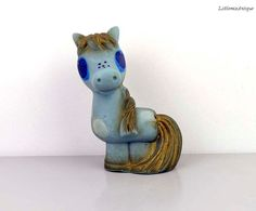 Vintage Soviet Era Small Rubber Squeaky Pony Toy. Made in USSR by LittlemixAntique on Etsy