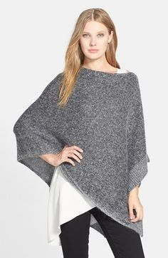 Eileen Fisher 'Luxe Sheen' Poncho Get cold on airplanes? Perfect stylish solution.