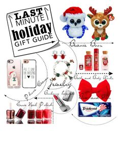 """""""Last Minute Holiday Gift Guide for your Friends"""" by glamourgirl0416 ❤ liked on Polyvore featuring Alpine, Casetify, Essie and Burberry"""