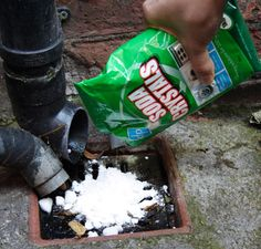 Soda Crystals are fab for unblocking drains and toilets.  No nasty chemicals need to be added to our water systems.