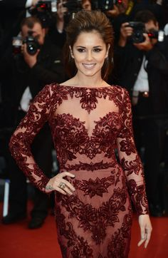 Cheryl Cole at the Red Carpet. Electrolux at Cannes 2013