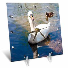 Buy Desk, Desk Clock, Swan, Amazon, Stuff To Buy, Beautiful, Clock Table, Swans, Riding Habit