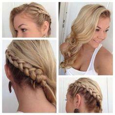 Trendy wedding hairstyles to the side braid waves Ideas Side Braid Hairstyles, Braided Hairstyles For Wedding, Pretty Hairstyles, Hairstyle Wedding, Hairstyle Ideas, Woman Hairstyles, Updo Hairstyle, Side Braid With Curls, Side Braids