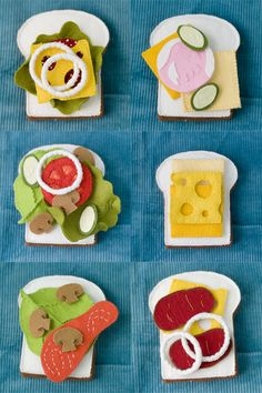 yummy wool felt sandwich toy set.