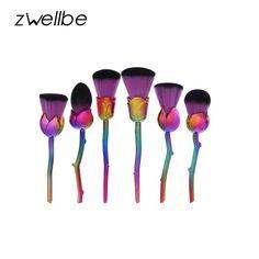 Makeup Brushes 6pcs Classic Soft Synthetic Tools Kit Foundation Powder Blush Eyeliner