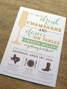 Champagne Themed Bachelorette Party / Printed by CityBeeDesign