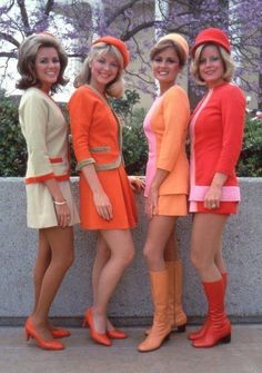 Sixties Stewardesses.  They are called Flight Attendants nowadays.  Back in the Sixties only women were Stewardesses.  But now that men are also in the position, the name was changed to Flight Attendants.