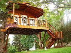 ahşap ağaç ev