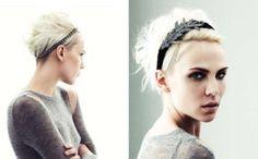 platinum blonde and short