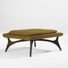 Vladimir Kagan; Walnut Bench for Grosfield House, 1950s.