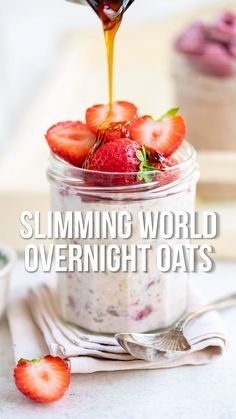 Make a batch of Syn Free Slimming World Overnight Oats and wake up to the perfect healthy make-ahead breakfast. All you need is a few minutes prep and a handful of ingredients – once you master the basic overnight oats recipe, the variations are endless. Basic Overnight Oats Recipe, Slimming World Overnight Oats, Healthy Overnight Oats, Oats Recipes, Smoothie Recipes, Healthy Make Ahead Breakfast, Syn Free Breakfast, Healthy Breakfasts, Breakfast Ideas