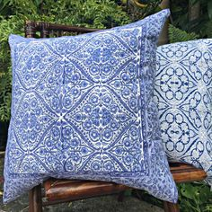 Pillow Cover20 Blue Decorative Pillow by SundaraHomeDecor on Etsy