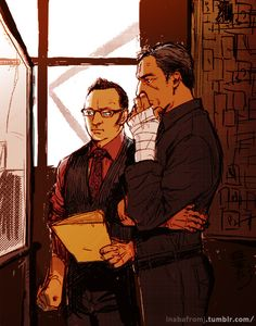 Finch and Reese #fanart Person of Interest