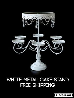 Pin By Lovetobakeandcraftcom On Cake Stands Pinterest - Cupcake chandelier stand crystals