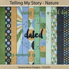 Hi, everyone! I managed to throw together a little kit for my Telling My Story series that I have been making for the Studio's color challe...