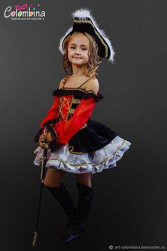 Костюм пиратки - 261 - купить или заказать в интернет-магазине на Ярмарке Мастеров | Костюм пиратки для девочки<br /> комплектация:…