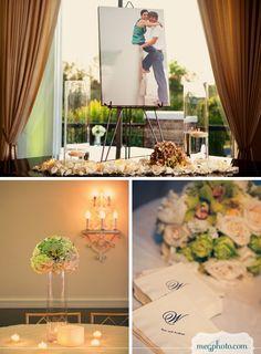 #wedding #reception #photo display #decor