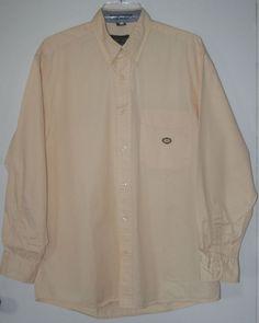 Oscar De La Renta Button Front Shirt Medium Pale Yellow Long Sleeve M #OscardelaRenta #ButtonFront