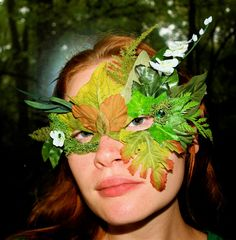 Fairy Greenman mask by magpiesmasquerie on Etsy, $26.00