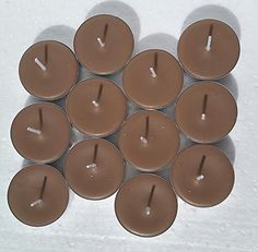 12 Pack of Chocolate Layer Cake Scented Soy Tealight Candles -- Click image to review more details.