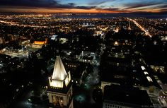 Sunset at UC Berkeley, taken by a camera lofted by a helium balloon on February 4th, 2011. Copyright: Michael Layefsky