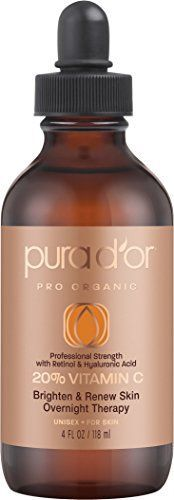 PURA DOR 20 Vitamin C Serum Professional Strength Overnight Therapy 4 Fluid Ounce -- Want to know more, click on the image. (Note:Amazon affiliate link)