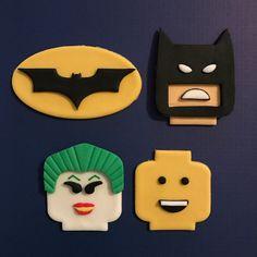 12 Lego Batman Cupcake Toppers-Fondant