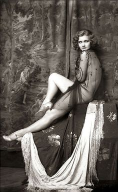 Ziegfeld Follies Girl, 1920. This would be a great recreation for a boudoir shoot.