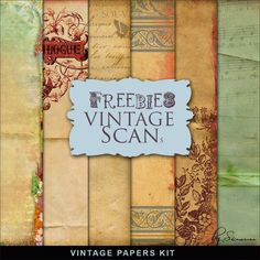 New Freebies Kit of Vintage Style Papers