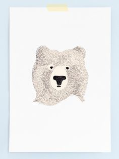 Illustration Love Bear Drawing