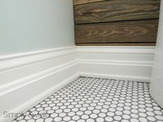 white penny tile w/ grey grout - master ensuite, one day maybe?