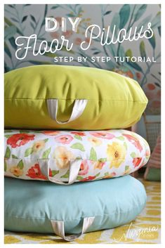 How to Sew a DIY Floor Pillow tutorial featured by top US craft blog, Fynes Designs... #HomeDecor #FloorPillows #DIY #HomeDecorIdeas #HomeDecorating