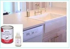 A great idea to redo your laminate counter tops very inexpensively!  Easy To Use!  Do-It-Yourself  Brush Or Roll-On Application  Adhesion Bonder Included  Click Here For Color Choice  High Gloss Finish - Self Level  Low Voc Formula Lead Free  Fast Drying  &  Free Shipping  Will Last  Up To 10+ Years  New & Improved Formula