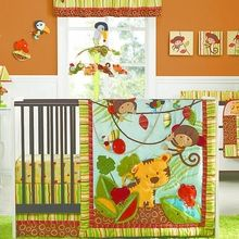 Kids Line Rainforest Collection Crib Set Colors As Shown One Size Kidsline Bedding