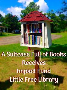 A Suitcase Full of Books has been selected as a recipient of an Impact Fund Little Free Library. A library kit, box of books, and stand have arrived. With a little paint and construction, the new library will be opened this coming summer!