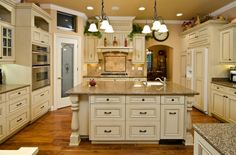 Antique white color that I want to paint my kitchen cabinets. (Love the floor too) Best colors for kitchen cabinets
