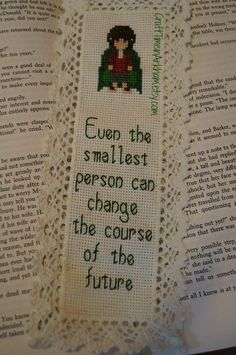 Lord of the Ring quote bookmark cross stitch pattern from CraftTimeinArkham on Etsy.