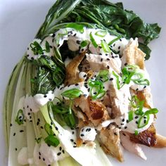 Here' s a lovely, quick lunch for when you have some leftover chicken. Balsamic Roasted Baby Bok Choy w. Chicken …