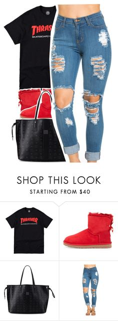"""Big Flock X Chiraq"" by uniquee-beauty ❤ liked on Polyvore featuring UGG Australia and MCM"
