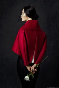 """Kwak Ji Young by Zhang Jingna in """"Flowers in December"""" for"""