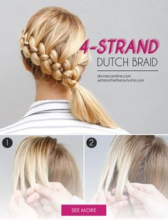 Kick your three-strand braid up a notch with a four-strand braid, of course! Don't worry; this tutorial makes it doable.