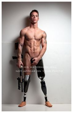"re: Veterans Day:Former Marine Chris Van Etten - Museum quality photograph, printed on archival paper using archival inks 11"" X 17"" photographer Michael Stokes photography male nude photo war vet marine amputee - Michael Stokes Photography"