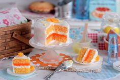 Miniature Orange Creamsicle Cake Set