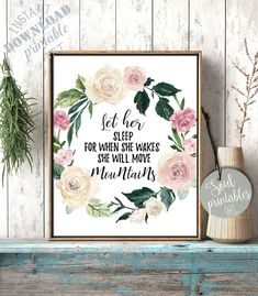 Nursery Bible Verses, Bible Verse Wall Art, Mountain Nursery, Cute Frames, Christian Wall Art, Move Mountains, Nursery Wall Art, Printable Wall Art, Valentine Gifts