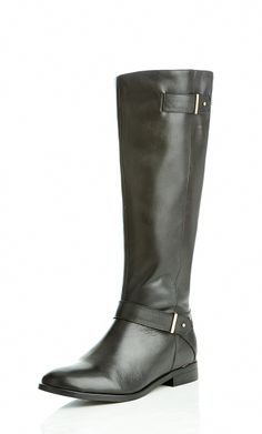City Chic - MIA FLAT BUCKLE  BOOT  - Women's Plus Size Fashion